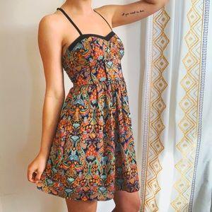 Xhilaration Dresses - Boho Bold Printed Skater Dress